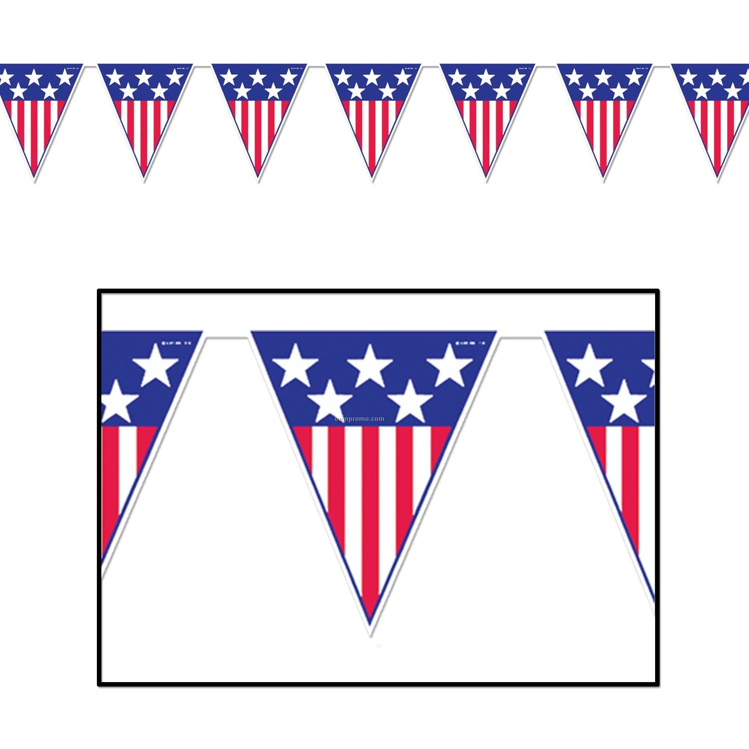 Pennant . Banners clipart american flag