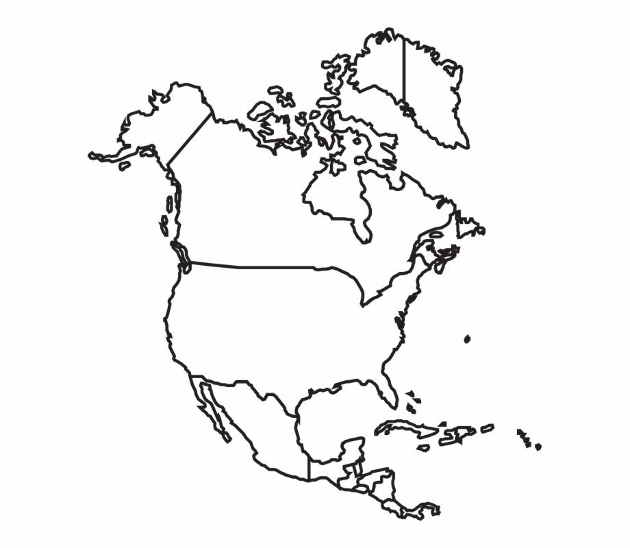 Usa clipart map america. North canada mexico united