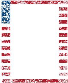Printable american flag free. America clipart border