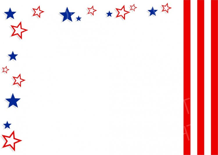America clipart border. Patriotic american stars stripes