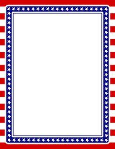 America clipart border. Patriotic page crafty the