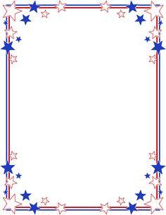 Printable stars and stripes. America clipart border