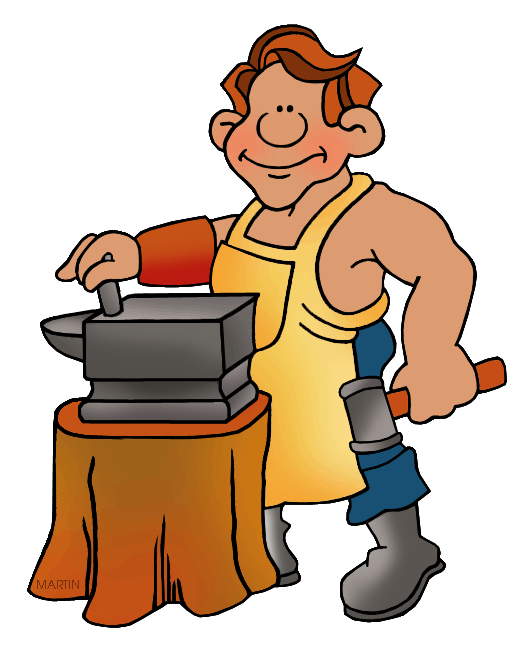 America clip art by. Anvil clipart colonial blacksmith