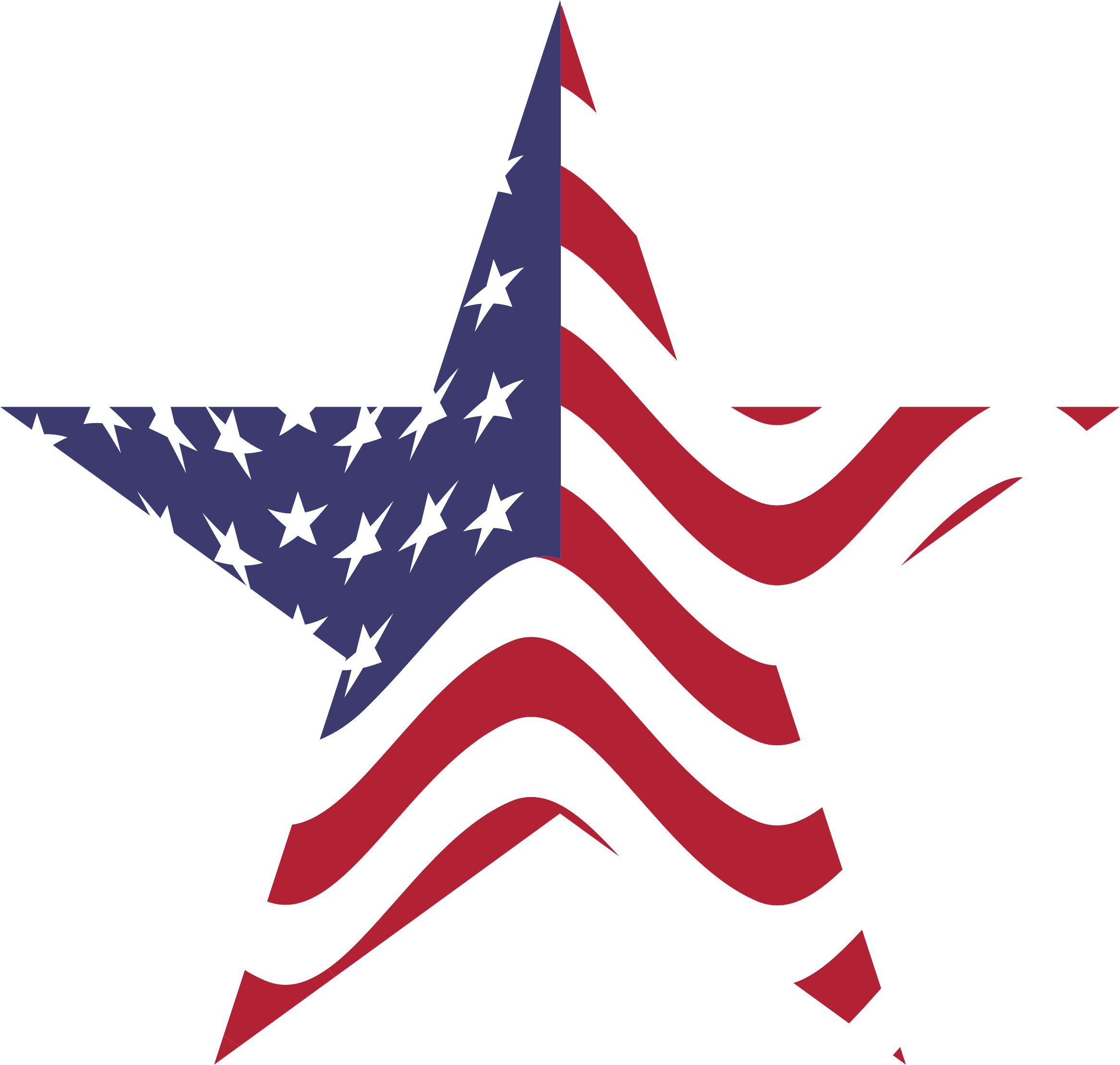 American flag star. Wheel clipart raffle