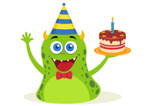 Free clip art pictures. Clipart cake monster