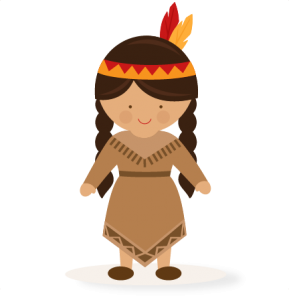 Bow clipart native american. Thanksgiving girl svg scrapbook