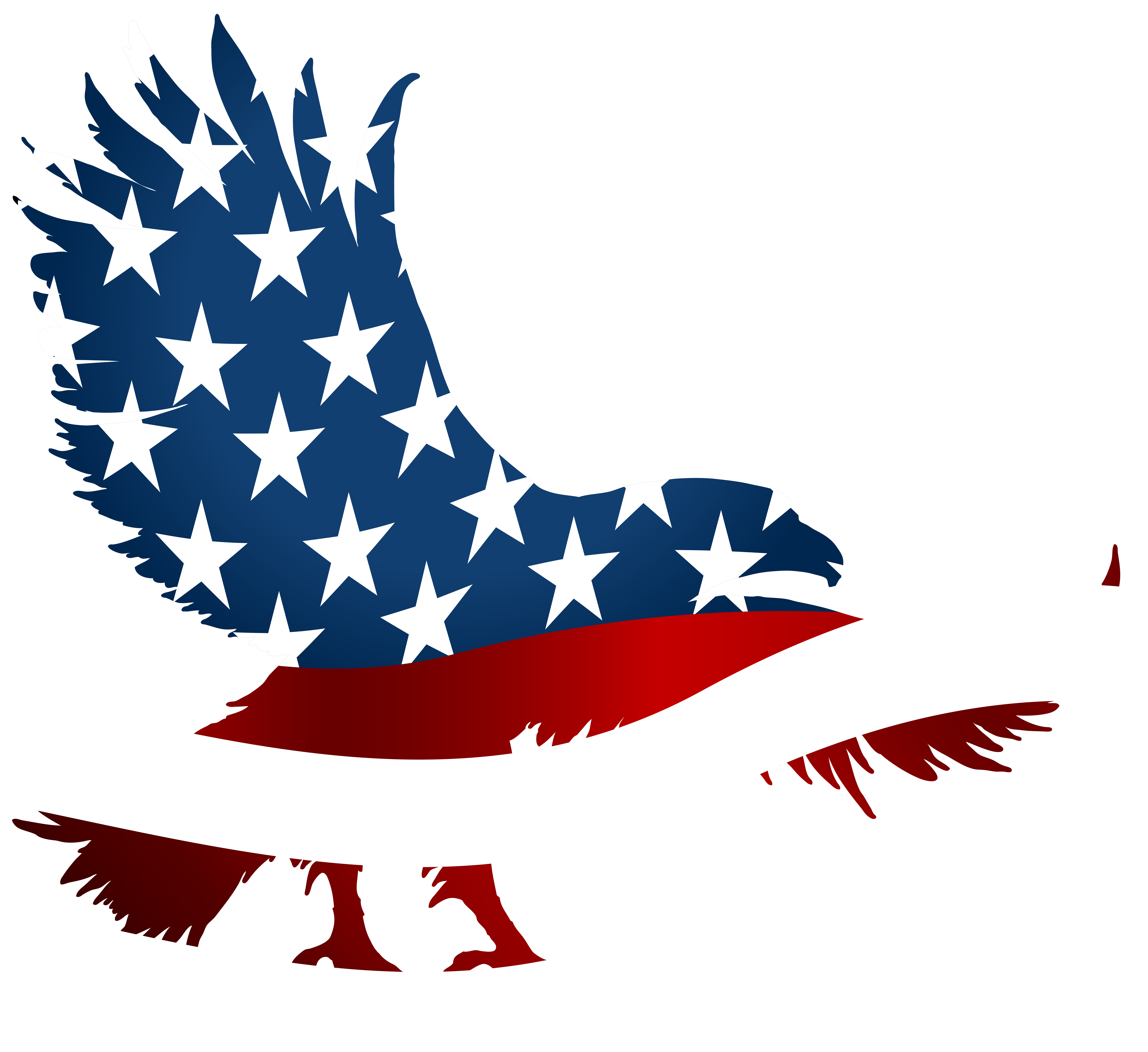 Eagle transparent png clip. Clipart bow flag american