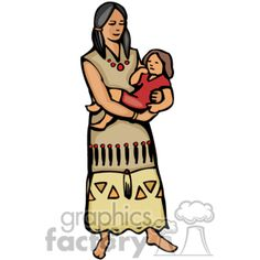 America clipart female. Native american people ccb