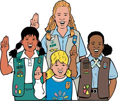 Girl scouts of panda. America clipart female