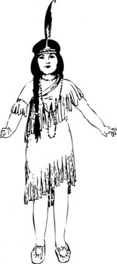 Native american people ccb. America clipart female