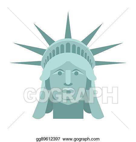 America clipart head. Eps vector of statue