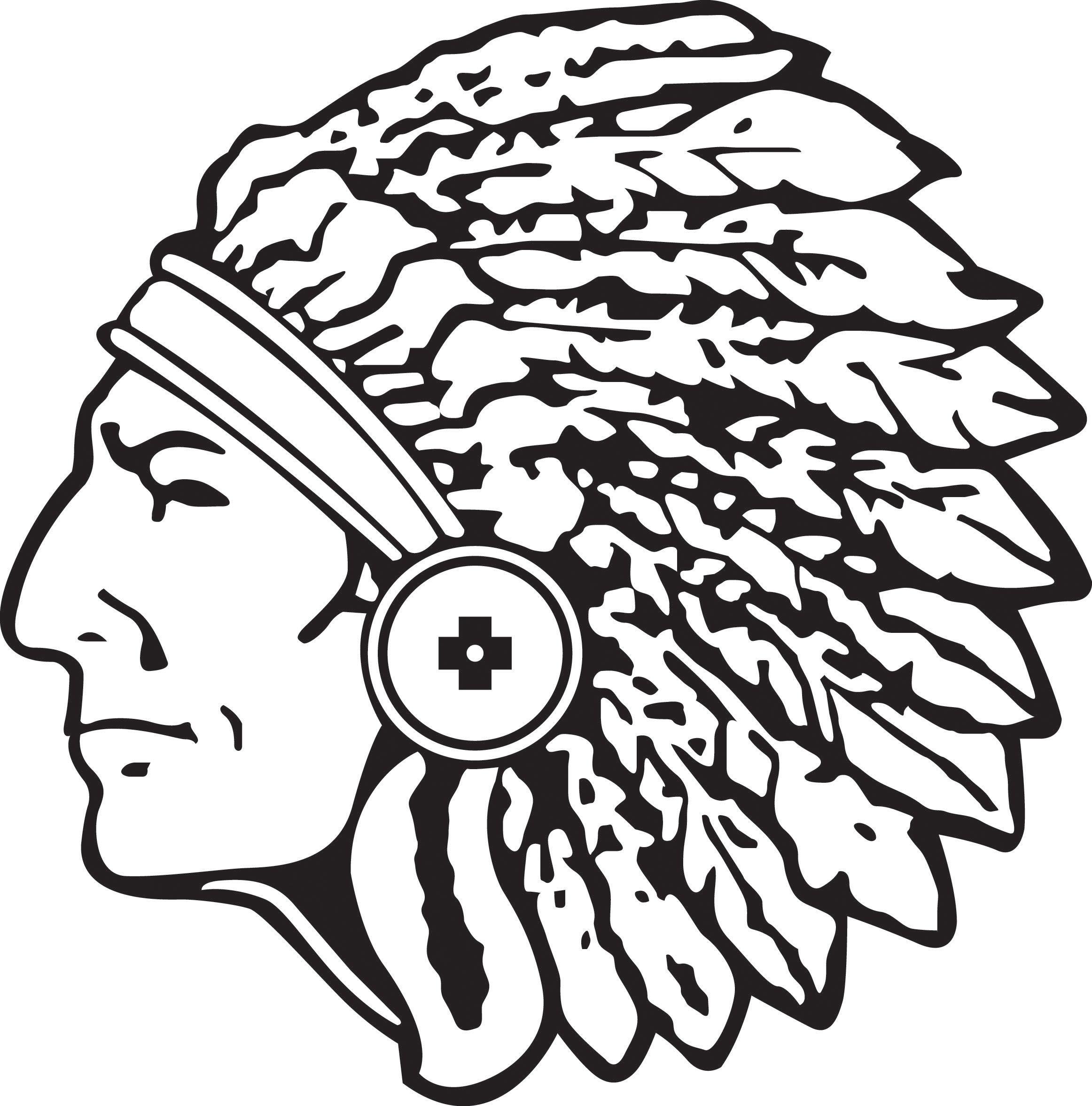 Indian logo panda free. Warrior clipart warrior head