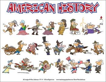 American cartoon . America clipart history us