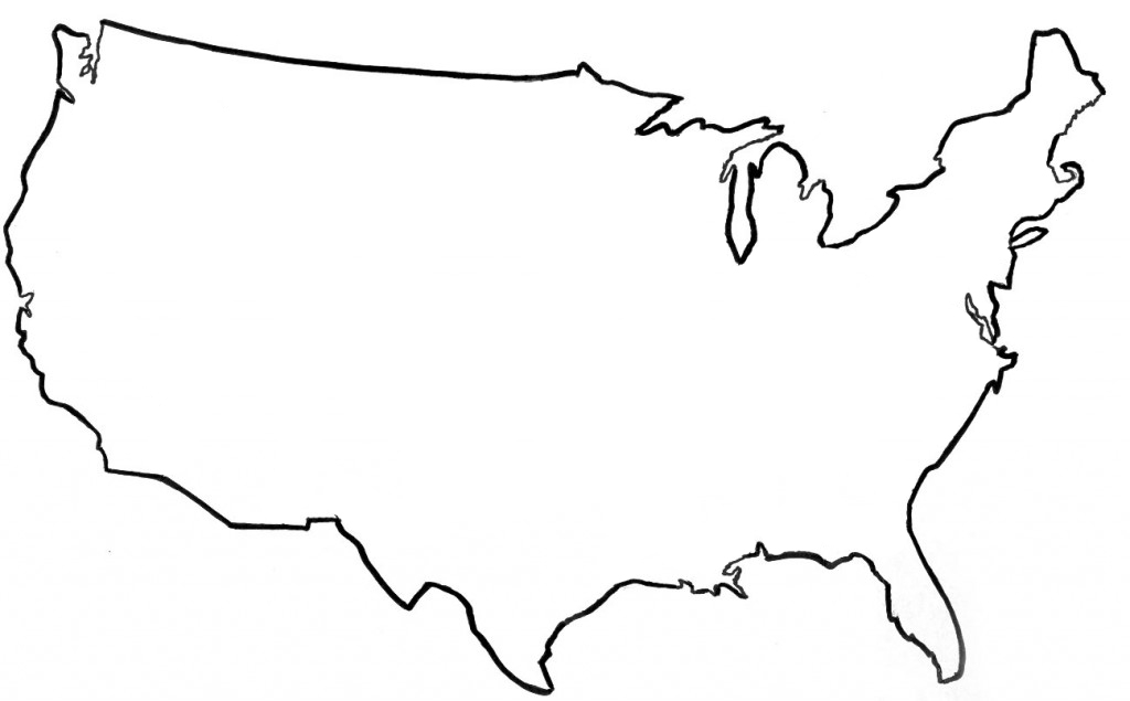 Simple United States Outline Map.America Clipart Map United States America Map United States