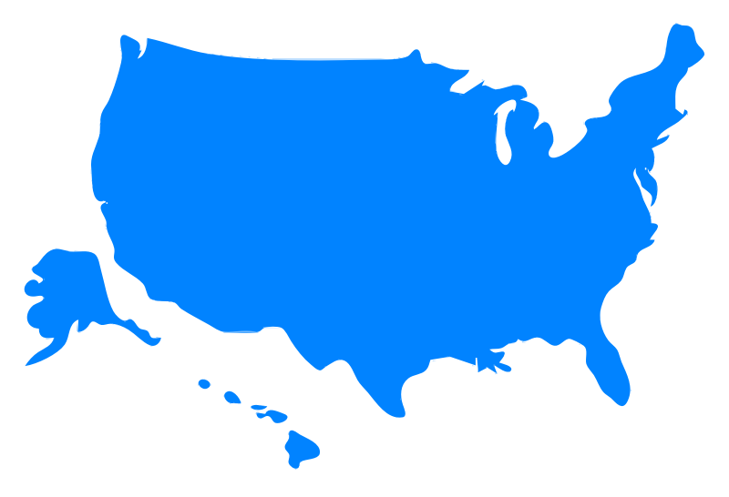 Us silhouette at getdrawings. Usa clipart map america