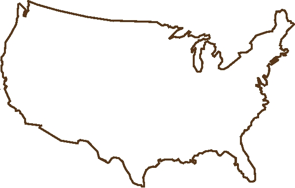 United states clipart unoted. Blank map of the