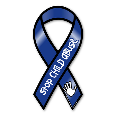 America clipart ribbon. Stop child abuse magnet