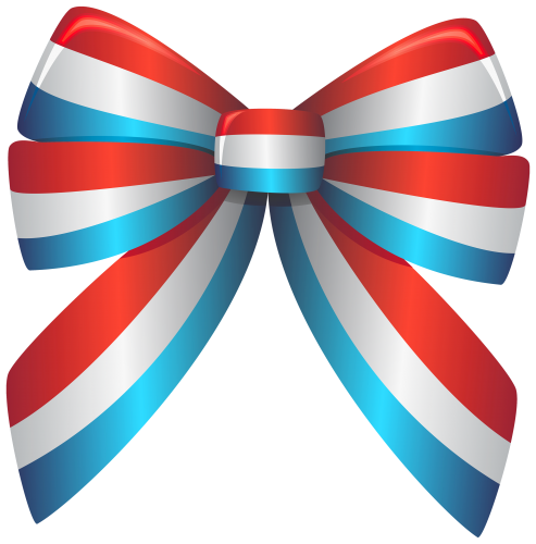 Red white and blue. America clipart ribbon
