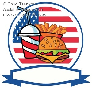 America clipart ribbon. Image of an american