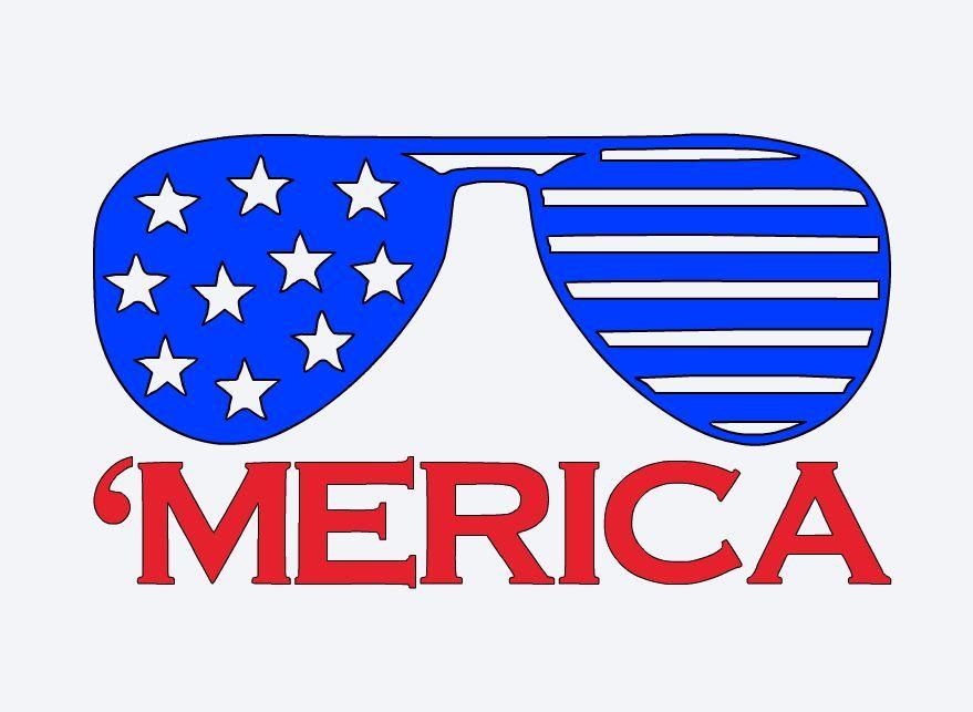 Sunglasses clipart patriotic. America vinyl decal fd