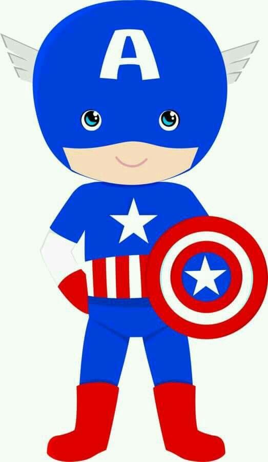America clipart superhero. Capitao cosas para imprimir