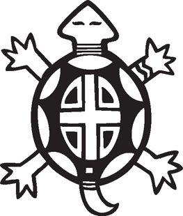 Native american symbols turtle. America clipart symbol america