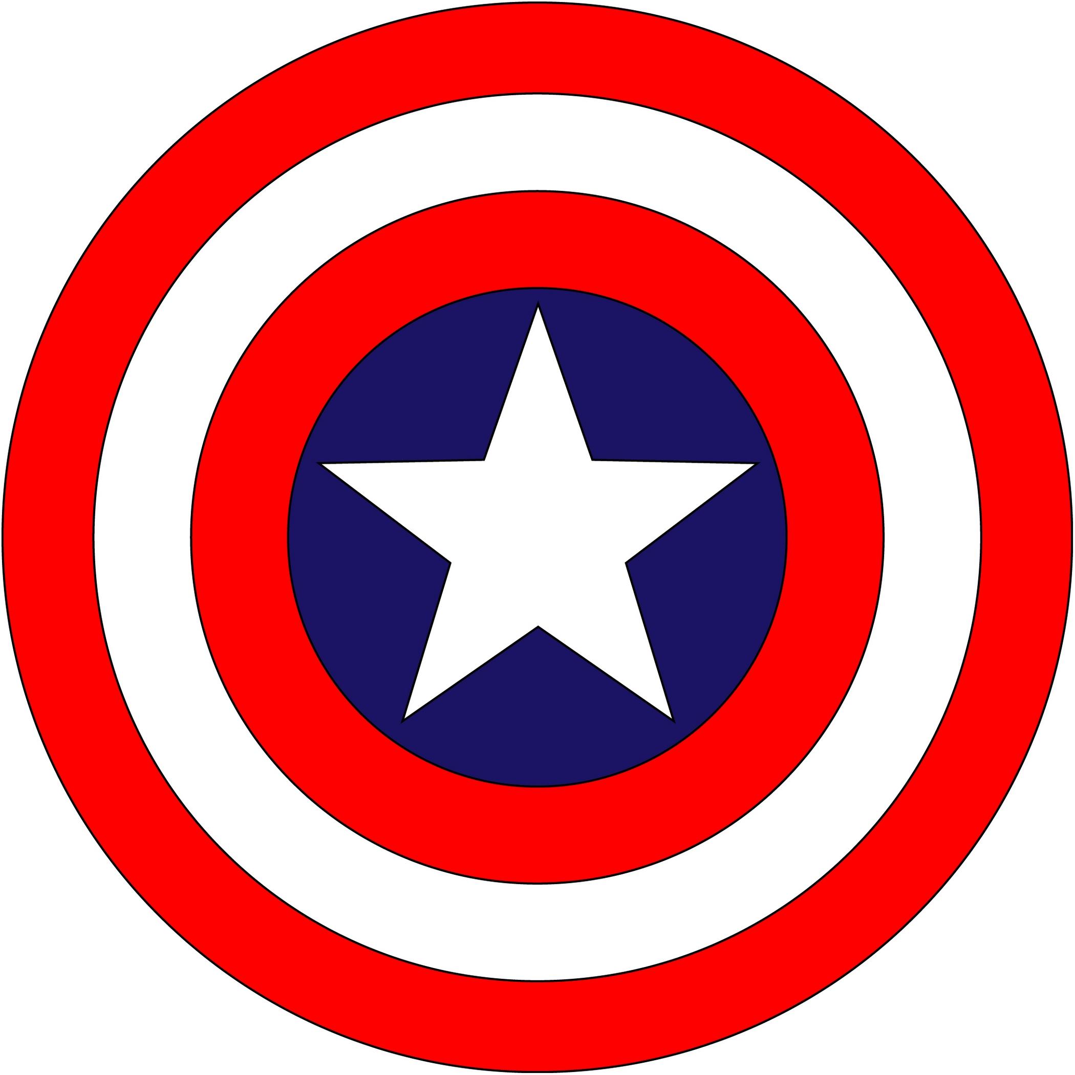 America clipart symbol america. Captain logo