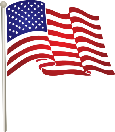 Download free transparent image. American flag vector png