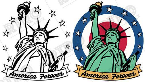 America clipart vintage. A patriotic image of