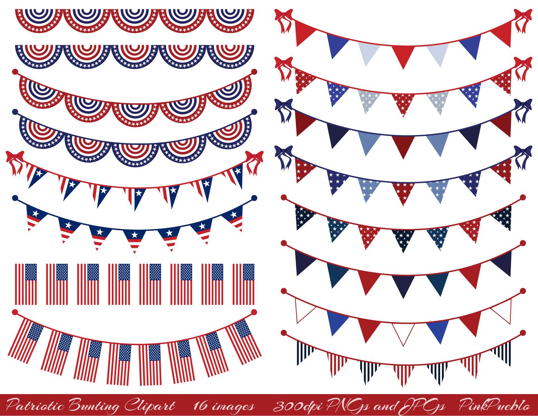 Patriotic bunting . America clipart vintage