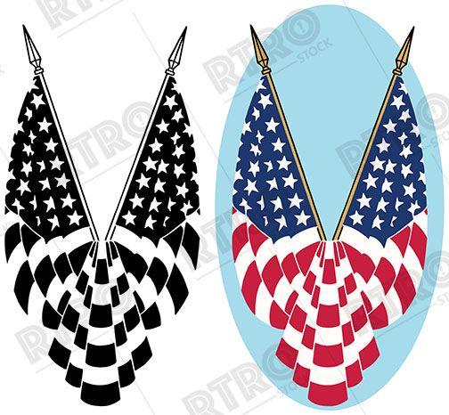 America clipart vintage. A patriotic graphic icon
