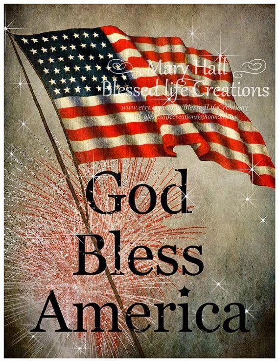 God bless clip art. America clipart vintage