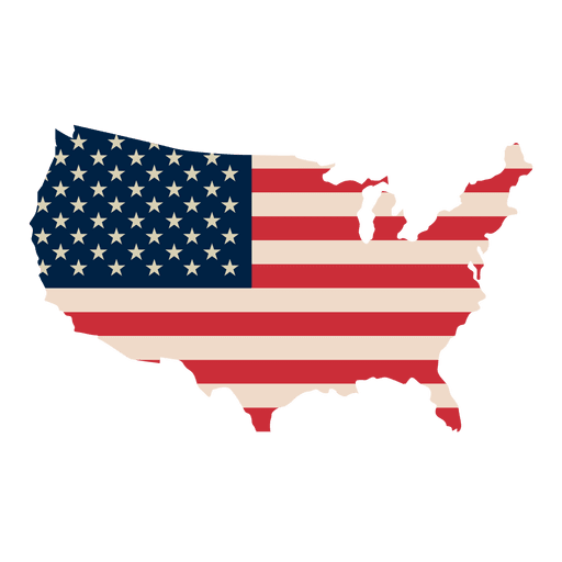 American flag vector png. Usa print map transparent