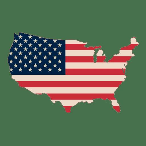 American flag vector png. Usa print map transparent