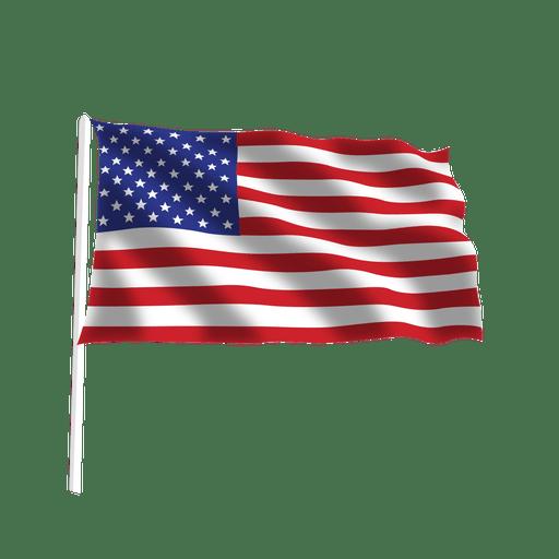 Waving transparent svg. American flag vector png