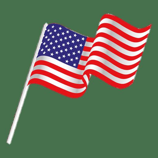 American flag vector png, American flag vector png