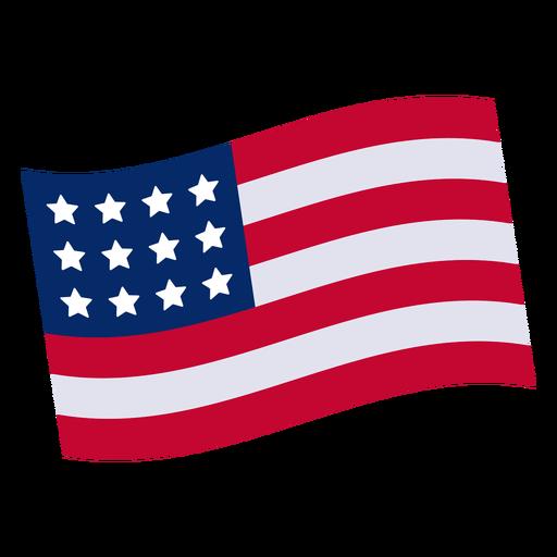 Design element transparent svg. American flag vector png
