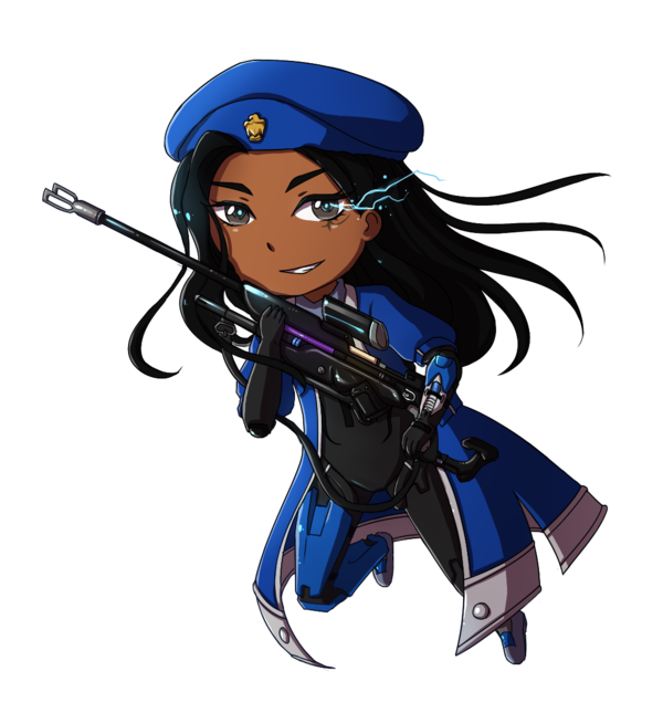 Chibi commission by tsuuyan. Ana overwatch png