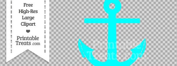 Blue printable treats com. Anchor clipart aqua