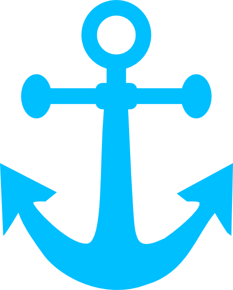 Clip art at clker. Clipart anchor aqua