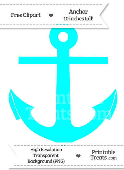 Clipart anchor aqua. Blue printable treats com