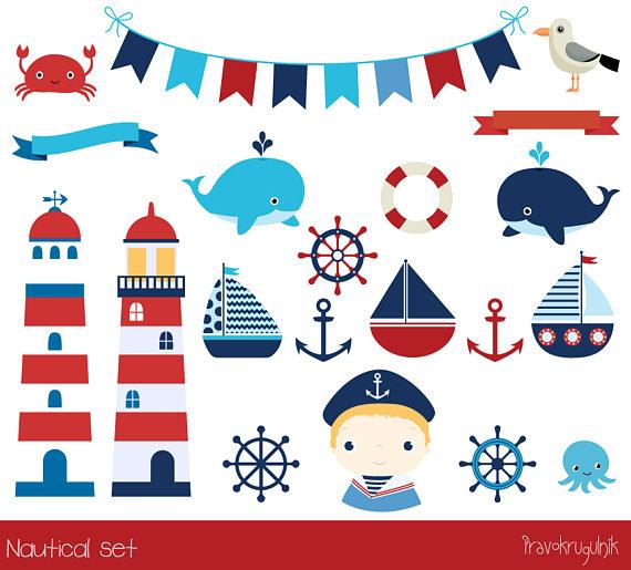 Anchor clipart birthday. Cute nautical lighthouse clip