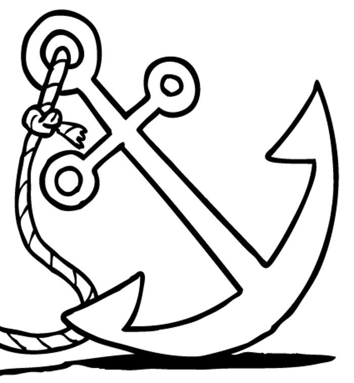 Anchor clipart black and white. Clip art