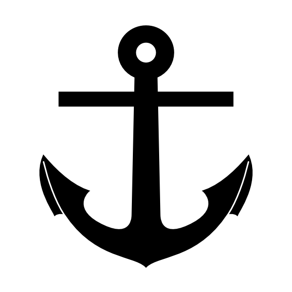 Anchor clipart black and white. Clip art at clker