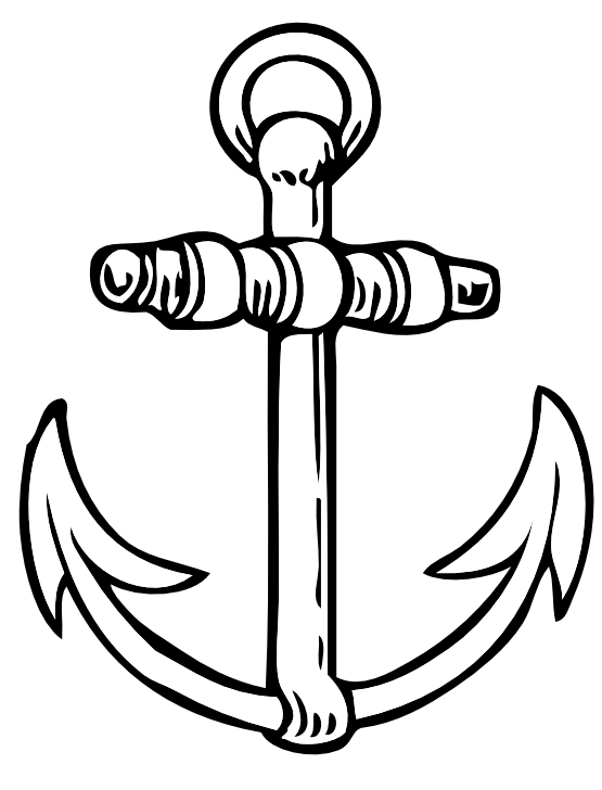 Panda free images anchorclipartblackandwhite. Anchor clipart black and white