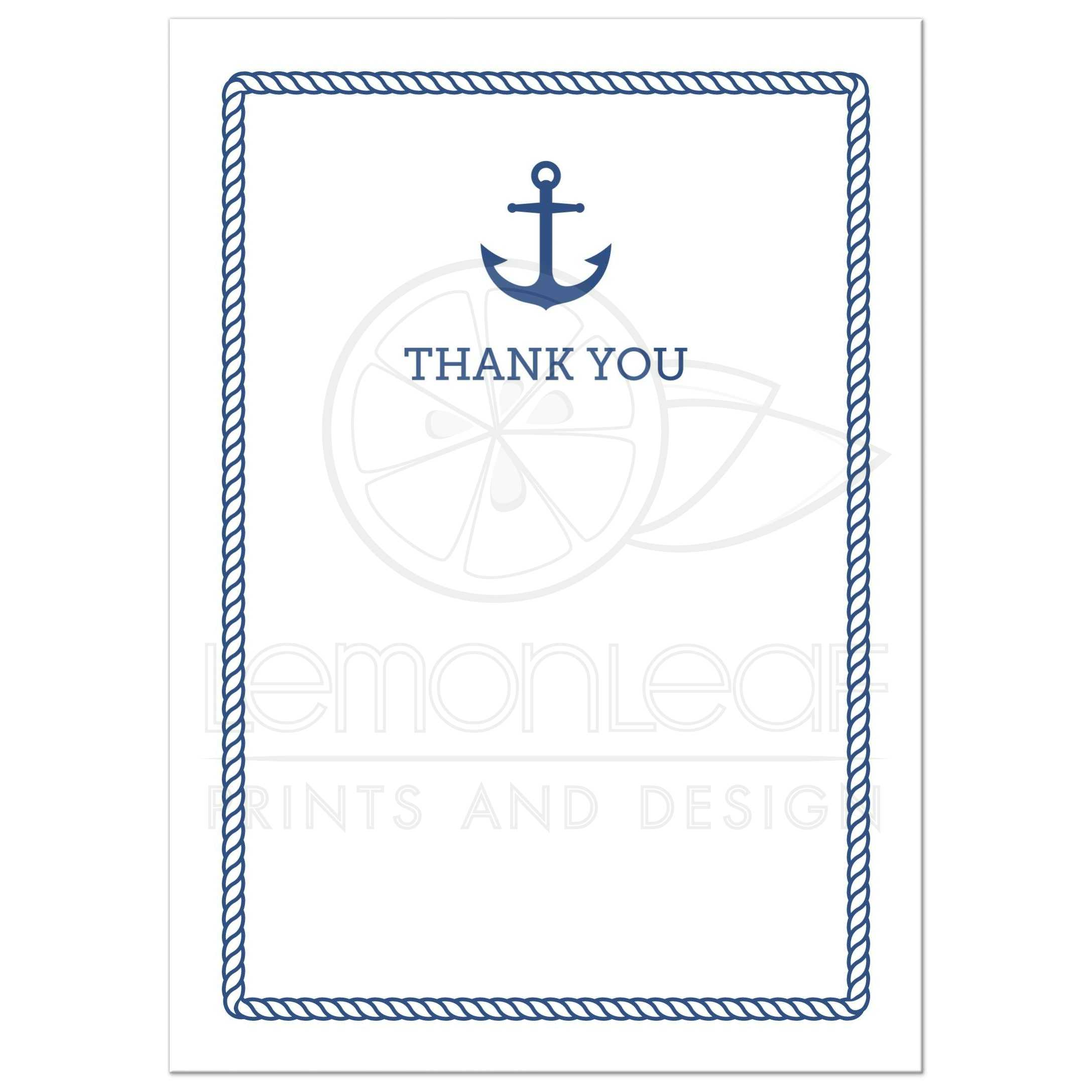 Anchor clipart borders. Nautical baby shower thank
