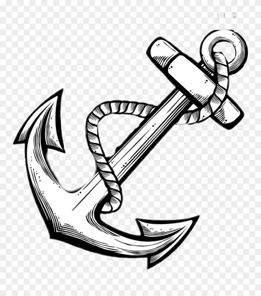 Anchor clipart easy. Clip art black and