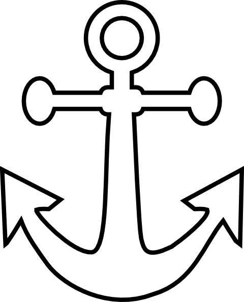 Free simple cliparts download. Anchor clipart easy