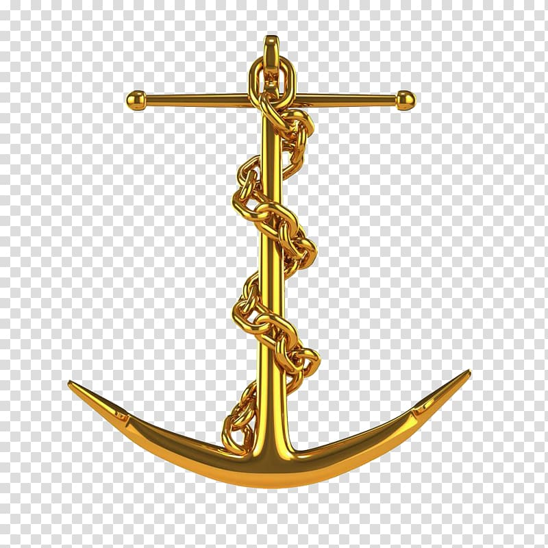 Anchor clipart french. Gold pendant chain illustration