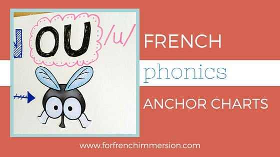 Phonics charts for immersion. Anchor clipart french